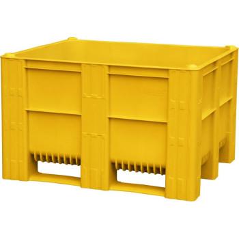 BoxPallet 1200х1000х740 мм сплошной желтый