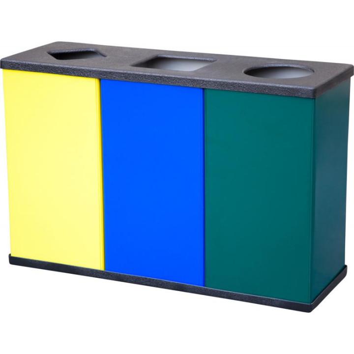 Урна для раздельного сбора мусора 3 х 80 литров