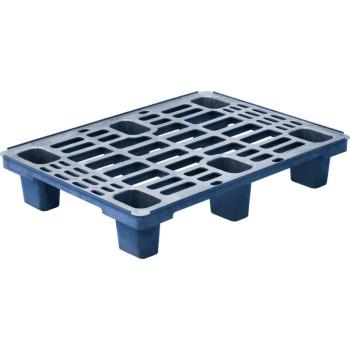 Паллет 800х600х155 (перфорированный на 6 ножках) синий