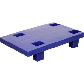 Паллет 600х400х130 (сплошной на ножках) синий
