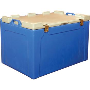 Контейнер 750х530х520 мм синий с крышкой