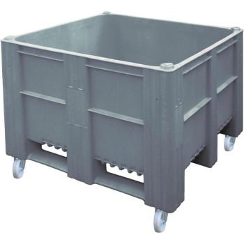 BoxPallet 1200х1000х900 мм сплошной на колесах серый