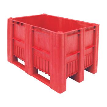BoxPallet 1200х800х740 мм красный сплошной