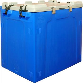 Контейнер 840х575х745 мм синий с крышкой