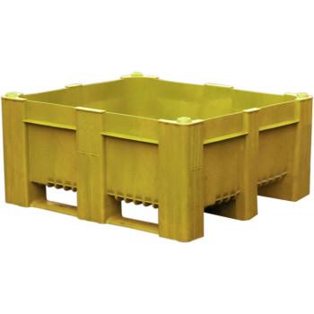BoxPallet 1200х1000х540 мм сплошной желтый